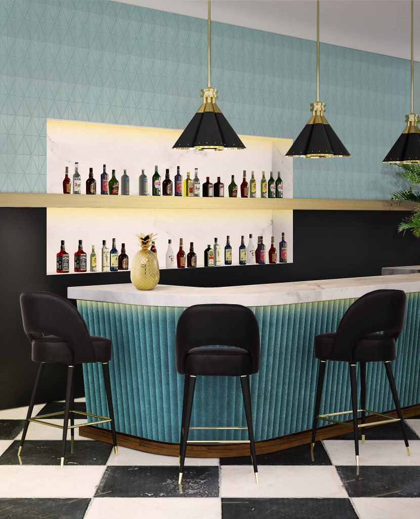 Upholstered Bar Chairs & How to Usem Them in a Luxury Interior_1