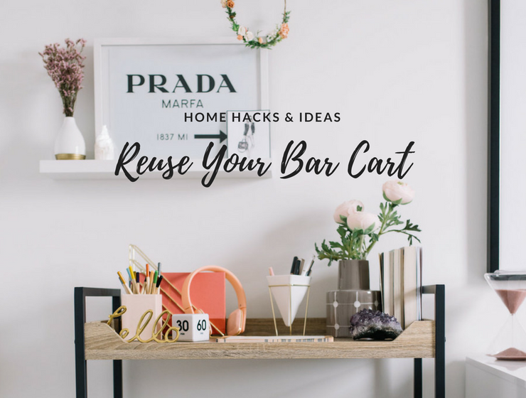 6 Ways to Reuse Your Vintage Rolling Bar Cart_feat