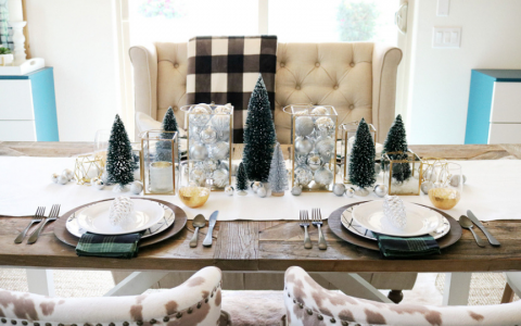 How To Turn Your Dining Room Into A Christmas Wonderland In 5 Steps