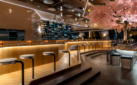 A Japanese Restaurant In Montreal With A Blossom Tree Stole Our Hearts