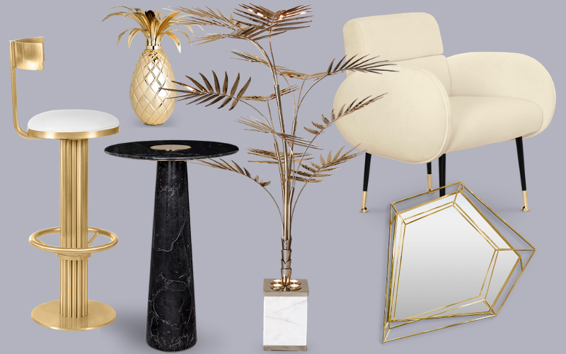 The 6 Golden Brass Pieces Every Mid-Century Modern Bar Decor Needs