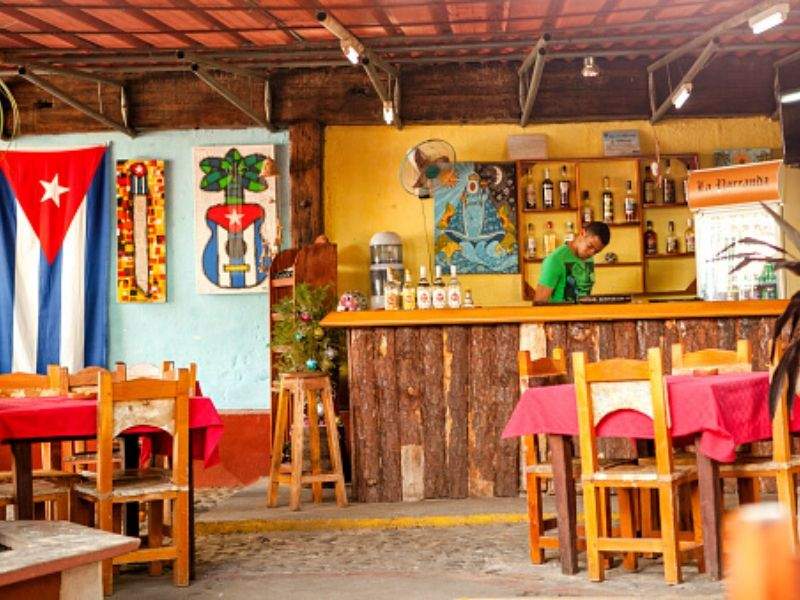 Bring Tropical vibes to your home with this Cuban Bar DIY