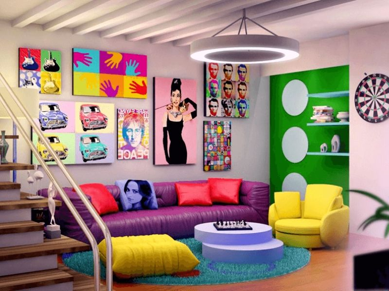 Iconic Pop Art Decor To Get Inspired From - And Stylish Bar Chair!